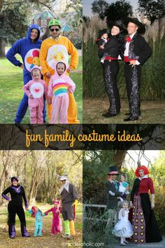 Looking for some fun family Halloween costume ideas? Try these ideas that work for both large families or groups and small groups as well. Childrens Halloween Costumes, Cute Group Halloween Costumes, Family Costumes, Halloween Outfits, Holidays Halloween, Cool Costumes, Halloween Fun, Costume Ideas, Group Costumes