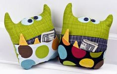 Featuring Bella Blvd Puppy Park Fabric with Riley Blake Designs.Tooth Fairy Pillows handmade by DT Member, Tiffany Hood
