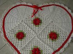 Resultado de imagem para graficos de tapetes em croche com formato de corações