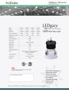 LEDgacy HB™ LED High Bay Light | PacLights - Commercial LED Lighting