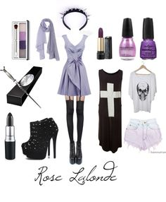 Rose Lalonde by daetsni featuring white cotton t shirts Pastel Goth Outfits, Pastel Punk, Pastel Goth Fashion, Punk Outfits, Grunge Fashion, Cute Fashion, Gothic Fashion, Fashion Outfits, Pastel Grunge