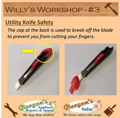 Feeling nervous every time you have to break off a blunt segment of the blade…. Keep your fingers safe and this is how.