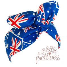 $11.99 Gorgeous 50′s Australia Day Pin-Up Headband. Measuring approximately 38cm long by 7cm wide. Special soft flexible wire to twist and mold the headband into shape – very comfortable! Made from quality 100% cotton fabric. www.alittlebitofprettiness.com.au