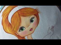 Pintura En Tela Niña Hortensia # 2 Con Cony - YouTube