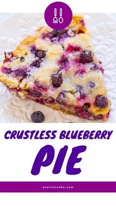 Summer Desserts, Healthy Desserts, Fun Desserts, Delicious Desserts, Easy Blueberry Pie, Blueberry Desserts, Tart Recipes, Best Dessert Recipes, Cooking Recipes