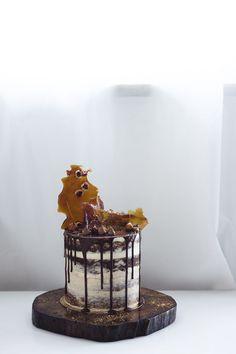 Irish cream & hazelnut naked cake