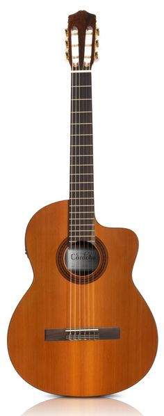 This is my 1st classical guitar.  I absolutely love playing it.  C5-CE - Cordoba Guitars - Nylon String Guitars for the Modern Guitarist.