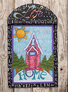 Winter Home by Christy Hartman. Exclusive Free Downloadable painting pattern and surface available at www.ArtistsClub.com
