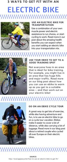 0e2798c12dd 3 great ways to get fit with an ebike Average Joe, Cycling Tips, Training
