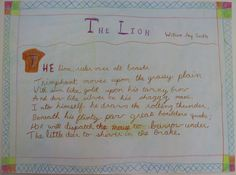 Waldorf ~ 4th grade ~ Human & Animal ~ Lion ~ main lesson book