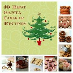 10 Best Santa Cookie Recipes - great easy recipes with pictures for each link!