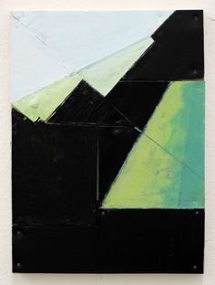 Florian Schmidt<br /> <i>Untitled(Community)42</i>, 2011<br /> Vinyl, lacquer, cardboard, graphite, wood<br /> 12.99 x 10.63 inches<br /> 33 x 27 cm<br />