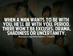 When a man.