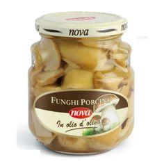 Nova Funghi Porcini in olio d'oliva . Borowiki w oleju z oliwek. Porcini mushrooms in olive. www.del-italy.eu