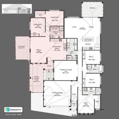 Discover our entire range of Dual Occupancy House Plans designed for the Perth metro area . From Single storey studio's to custom granny flats attached to the main home. We offer Double Storey and house behind house special purpose duplex style designs. Family House Plans, Cottage House Plans, Craftsman House Plans, Country House Plans, Dream House Plans, Small House Plans, Family Houses, Tiny Houses, Duplex Floor Plans