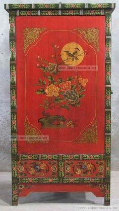 Armario chino decorado oriental                                                                                                                                                                                 Más