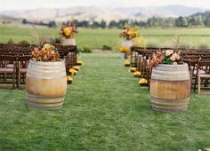Set up for an outdoor country wedding