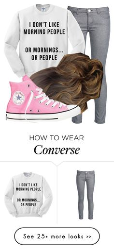 """Untitled #5996"" by assexyaswesley on Polyvore featuring George J. Love and Converse"
