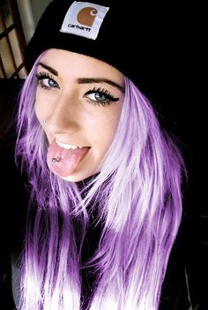 Beautiful light purple hair color