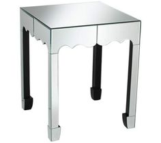 Willow Silver Mirror Accent Table | 55DowningStreet.com