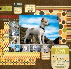 Pawsitively Adorable - Scrapbook.com #dog #scrapbooking