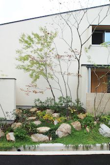 Garden Landscaping, Shed, Okayama, Exterior, Landscape, Amazing, Green, Plants, House