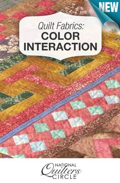 Color selection can make or break a quilt! How do you select your fabric colors? http://www.nationalquilterscircle.com/video/interaction-of-color-with-quilt-fabrics/?utm_source=pinterest&utm_medium=organic&utm_campaign=A219 #LetsQuilt