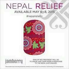 Limited Time Nepal Relief Nail Wrap.  It IS included in buy 3 get 1 free!