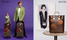 Christian Louboutin and Rei Kawakubo for Louis Vuitton | Photo: Karl Lagerfeld for Harper's Bazaar