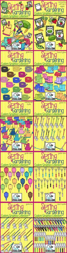 Spring Gardening Bundle by The 3AM Teacher - Over 190 graphics!!