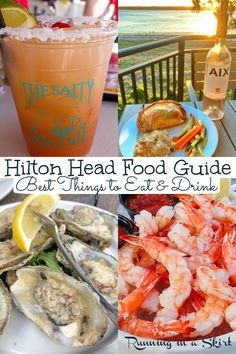 Best Hilton Head Restaurants - Hilton Head Island SC Food Guide including the best things to eat & drink! Includes options for dinners, best seafood, best cocktails, best sunset meals, best places to eat on the beach, local's favorites, and hidden gems. Includes The Salty Dog, Skull Creek Boat House, Red Fish, Hudson's, and Charlies! Written by a lifelong island visitor to this South Carolina island. / Running in a Skirt #hiltonhead #sc #ustravel #travelblogger #sctravel #foodietravel