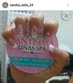 J Nails, Swag Nails, Acrylic Nails, Manicure Y Pedicure, Flower Nail Art, Nail Decorations, Gorgeous Nails, Projects To Try, Nail Designs