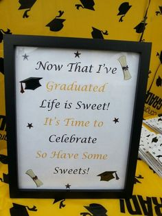Graduation Buffet Table | Candy Buffet Sign/ Grad Party 2014