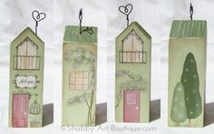 DIY–'shabbilicious' Village Shops [part 2] - Shabby Art Boutique