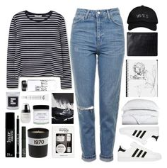 A fashion look from October 2016 featuring long sleeve shirts, topshop jeans and leather handbags. Browse and shop related looks. Octobers Very Own, Bella Freud, School Looks, Mom Jeans, Topshop, Luxor, My Style, Philosophy