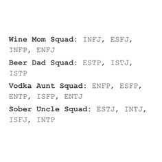ENFP- I don't need vodka to act just as crazy lol