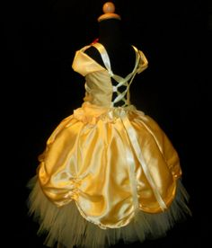 Girls Yellow Princess Tutu Fancy Dress, Custom made in sizes 6 7 and 8 Fancy Dress, Dress Up, Disney Princess Costumes, Belle Dress, Baby Memories, Girly Girl, Beauty And The Beast, Couture Fashion, Kids Fashion