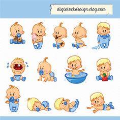 Bebé niño imágenes prediseñadas. Bebé niño por digistockdesign