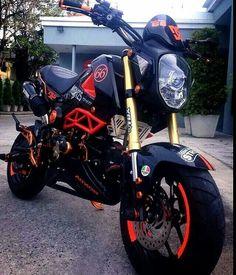 Honda MSX Honda Grom, Grom Bike, Motos Honda, Honda Cb, Ducati, Yamaha, Scooter Bike, Cafe Bike, Pit Bike