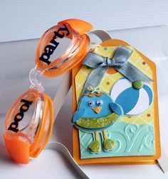 Goggles Pool Party Invitation by csroyal - cute idea