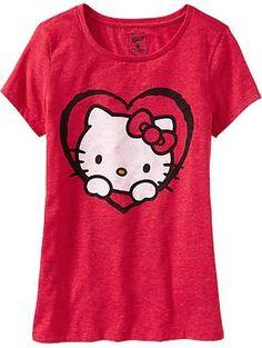 Women's Hello Kitty® Valentine Tees | Old Navy