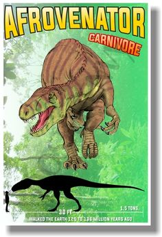 Afrovenator - Carnivore - NEW Dinosaur Science Poster (an228) PosterEnvy