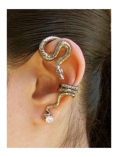 Python oreja abrigo de bronce de la serpiente por martymagic, $59.00