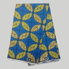 NAF-18 African Fabrics Super Wax Print Cotton Fabrics 6yards African Fabrics…