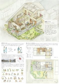 受賞作品 - 木の家設計グランプリ Architecture Portfolio Layout, Architecture Presentation Board, Architecture Panel, Green Architecture, School Architecture, Architecture Diagrams, Presentation Boards, Architectural Presentation, Architectural Models