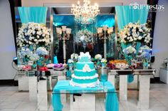 Teal Wedding Decorations, Table Decorations, Tiffany Blue Weddings, 20 Wedding Anniversary, Cake Table, 16th Birthday, Sweet 16, Party Time, Baby Shower