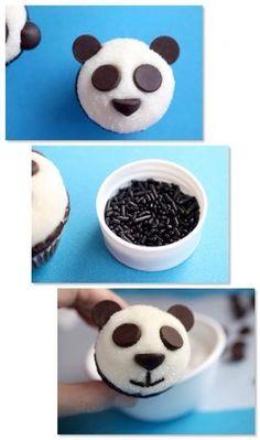 Bullet journal morning and evening routine Panda Cupcakes, Animal Cupcakes, Panda Birthday Cake, Bear Birthday, Panda Candy, Panda Themed Party, Bolo Panda, Sushi Party, Puppy Party