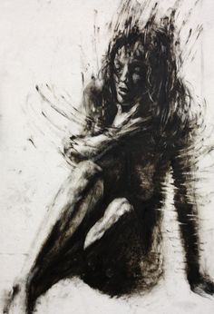 """36"""" x 24"""", lithographic crayon and printmaking ink on Dura-Lar"""