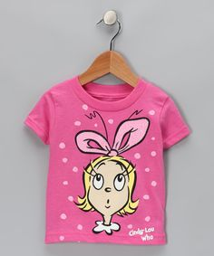 Take a look at this Dr. Seuss Pink 'Cindy-Lou Who' Tee - Infant on zulily today!