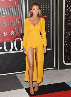 Gigi Hadid attends the 2015 MTV Video Music Awards at Microsoft Theater on August 30, 2015 in Los Angeles, California.